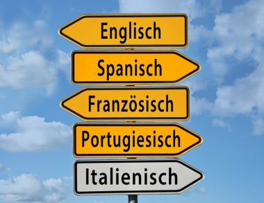 Sign with types of languages