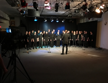 "USM Chamber Singers performing on the December episode of ""The USM Update"""
