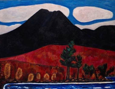 Photo of Marsden Hartley's painting of Mt. Katahdin