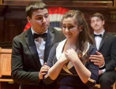 """Sean Arsenault and Meg Ward in """"Of Thee I Sing"""""""