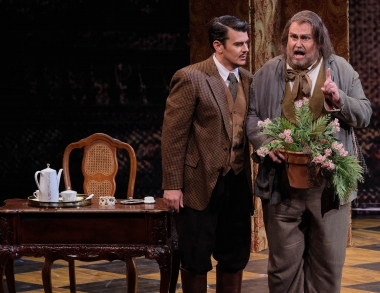 School of Music faculty Scott Wheatley as Antonio in Opera Maine Marriage of Figaro