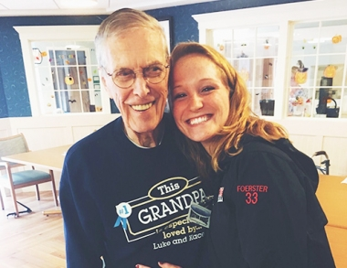 photo of Kacey Foerster with her grandfather
