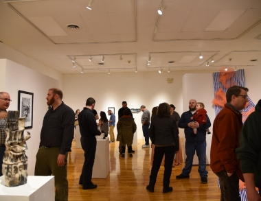 Student Juried Exhibition opening