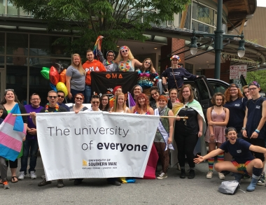 USM students and staff at Portland Pride parade 2017