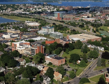 aerial photo of USM's Portland Campus