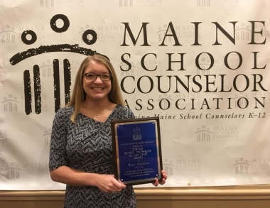 USM Counselor Education alumna Tara Kierstead, 2019 Maine School Counselor