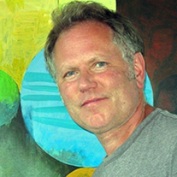 Portrait of Jim Flahaven, painting Professor