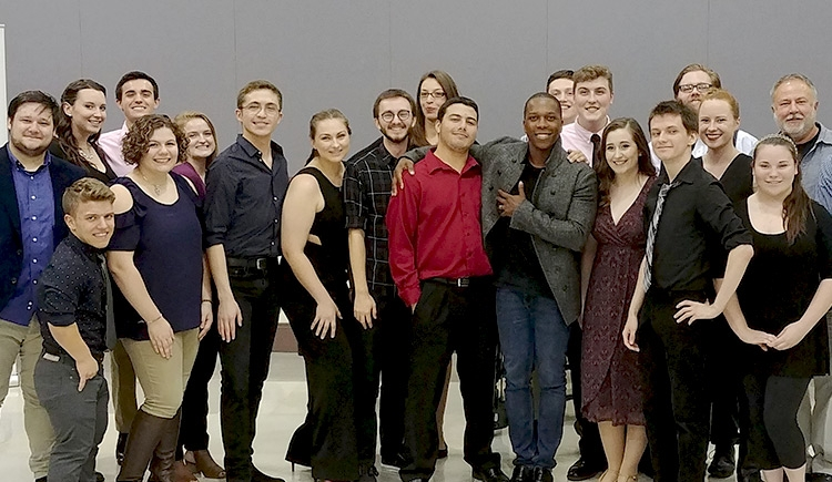 Leslie Odom Jr. with School of Music students