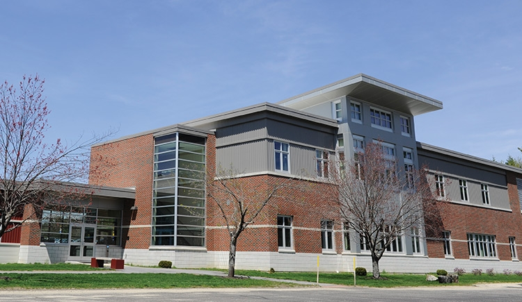 A view of the entrance to our Lewiston campus building