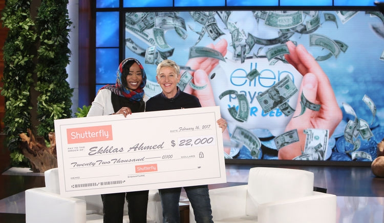 Ekhlas Ahmed on 'Ellen' (image credit: Warner Bros.)