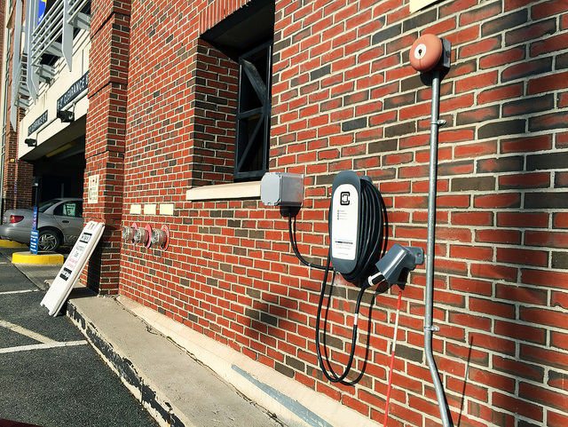 University of southern Maine installs first electric vehicle charging station on Portland campus