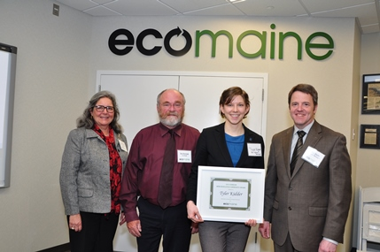 University of Southern Maine Assistant Director for Sustainable Programs Tyler Kidder and Resource Recovery Supervisor Steve Sweeney were chosen to receive the 2013 Community eco-Excellence Award for Gorham and, then, went on to win the Grand Award as best from 22 communities.