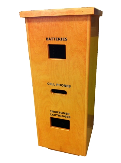 USM Electronic Waste Recycling Kiosk located in all three USM Libraries