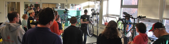 Students, staff, faculty, and community members learned about basic bicycle care
