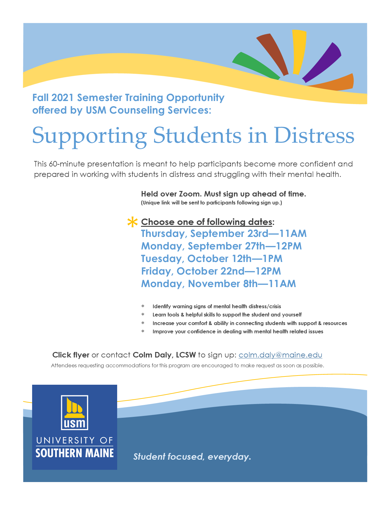 Flier for Distress Session