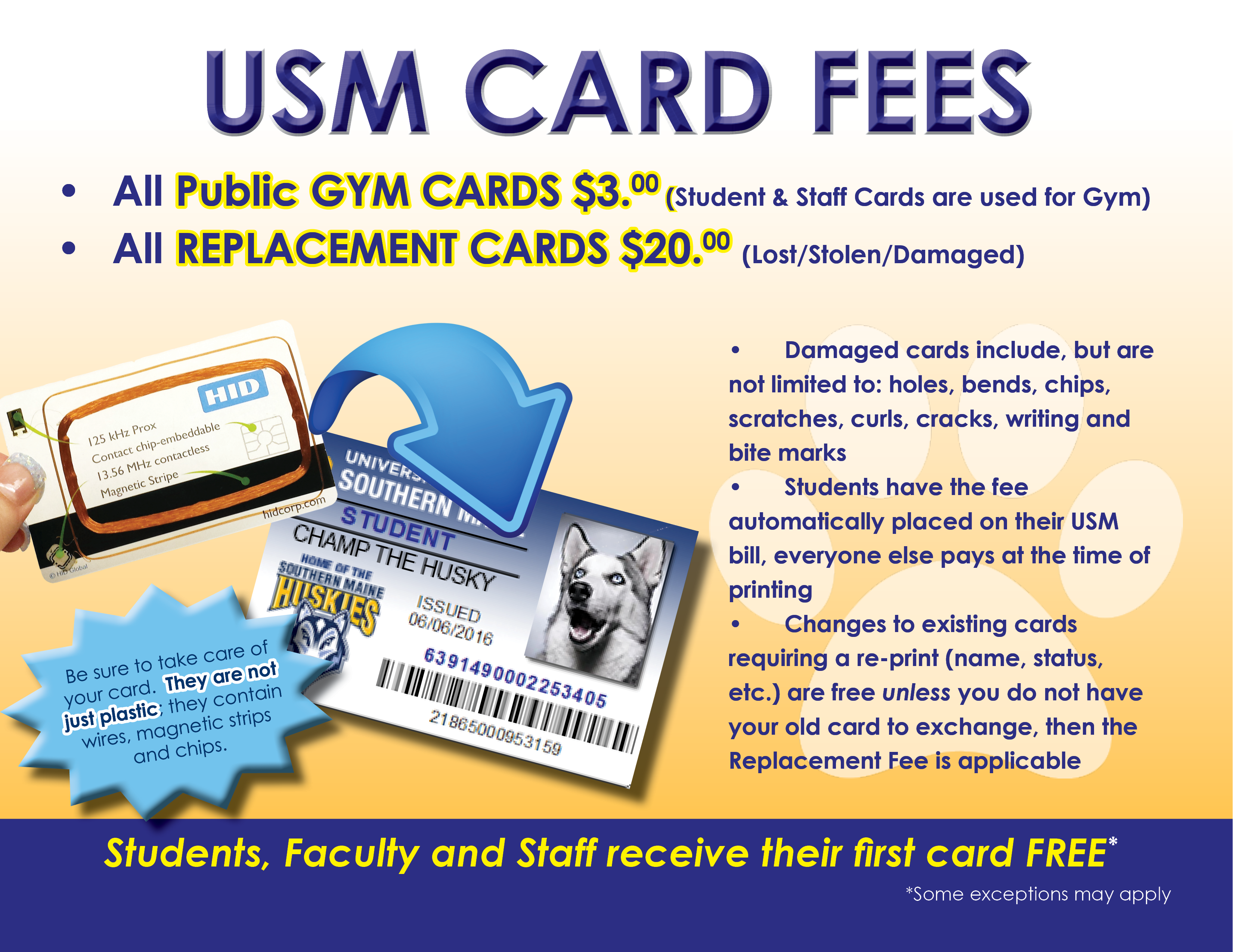 Maine Southern Cellular Card Information Usm amp; University Services Of Campus