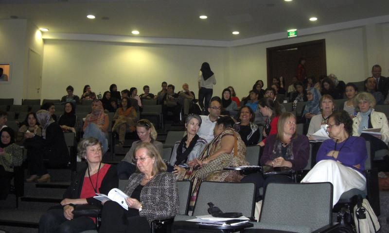 Conference participants in session