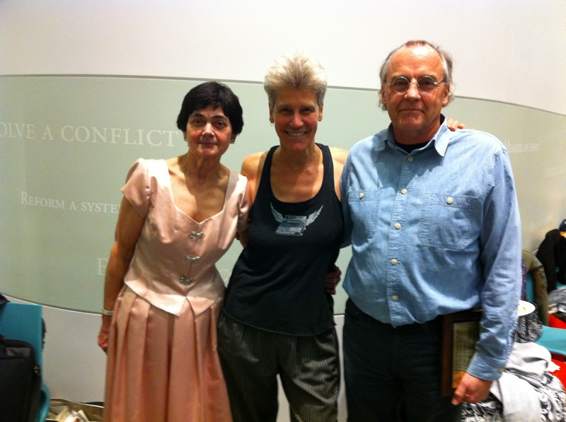 Professor Holden, Director of WGS Wendy Chapkis and Professor Messerschmidt