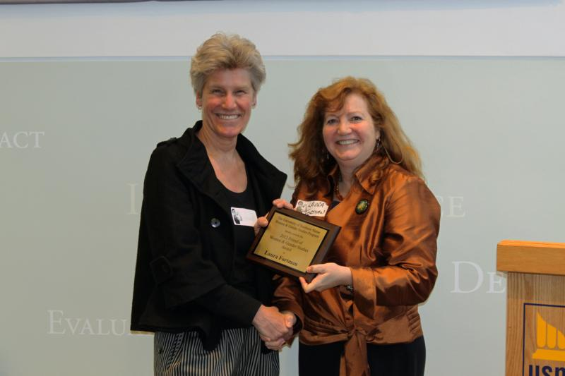 Wendy Chapkis and Laura Fortman, 2012 Friend of Women and Gender Studies