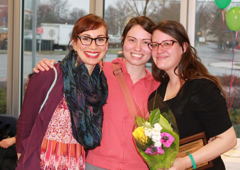 Jaquie St. Pierre, Grace Mueller, and Julia Davidson, 2013 Outstanding Graduate of Women and Gender Studies Award