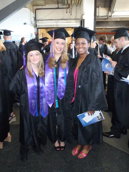 Bethany Winter, Hannah Schwenk-Sandau, and Lafeesa Tarrence