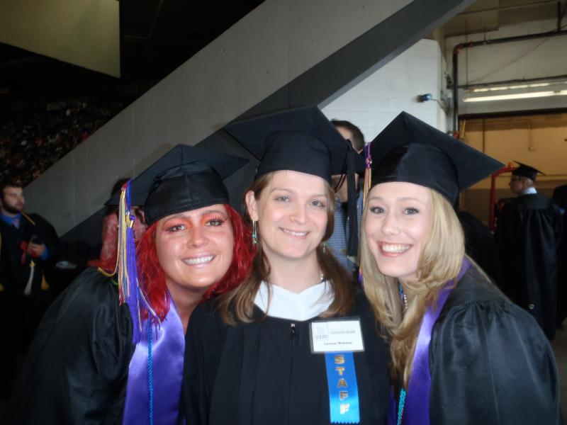 Sarah T. Moon, Lauren Webster (staff) and Hannah Schwenk-Sandau,
