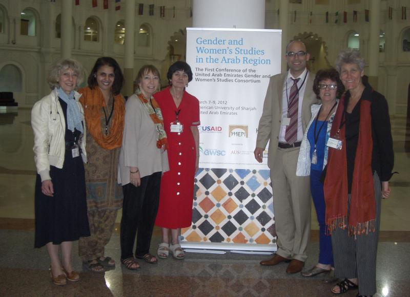USM WGS faculty and Nawar Al Hassan Golley at University of Sharjah 1